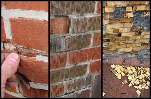 Chimney Repair Warning Signs | flaking, chalky, debris